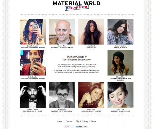 Material Wrld Pop Up Store One 520x436 Crazy about Curation: 5 American girls, 3 fashion startups