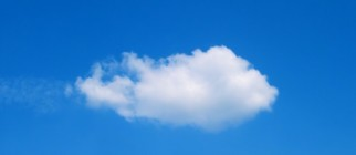 lonely cumulus cloud in the sky