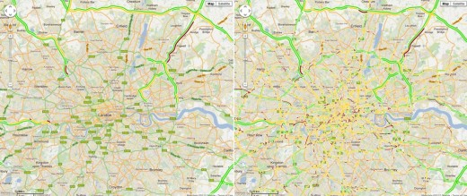 Screen Shot 2012 04 02 at 12.23.10 PM 520x219 Google expands typical traffic mapping to include roads, helps plan your route during rush hour
