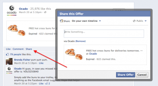 Screen Shot 2012 04 14 at 08.07.56 520x285 Facebook Offers: Why you could soon be buying from your favorite brands in your News Feed
