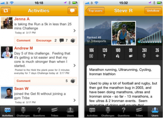 Screenshot 31 520x379 Sports social network Tribesports launches iOS app as it gears up for global expansion