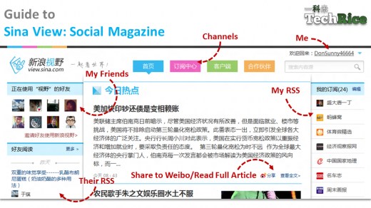 TechRice Sina View 520x292 Flipboard gets new competition in China   from its partner, microblogging giant Sina