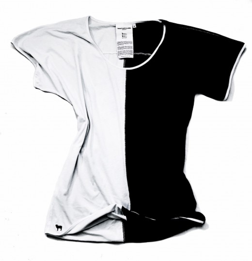 The Black And White T Shirt 1 520x538 Behind the design: An interview with Not Just a Label