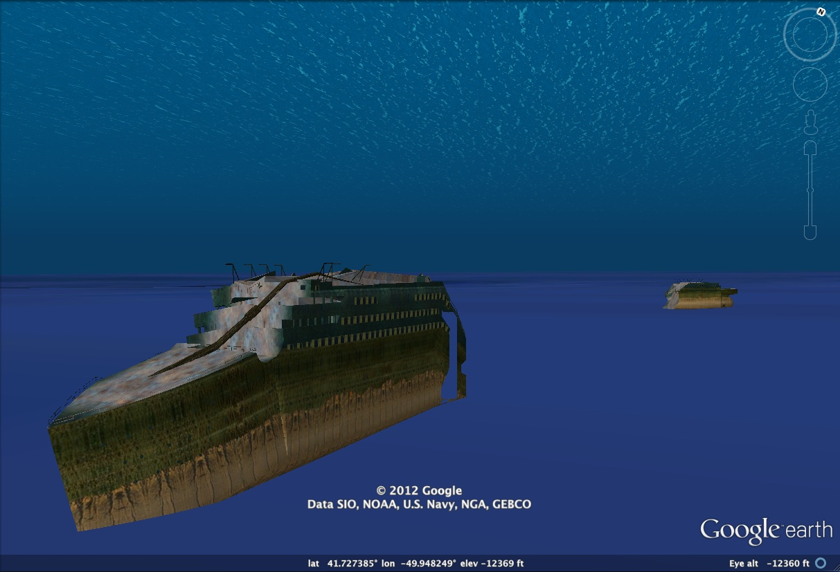 Take A 3d Tour Of Titanic With Google Earth