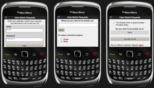 UberBlack 520x296 Uber launches mobile friendly site with BlackBerry and Windows Phone users in mind