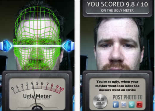 Uglymeter 520x375 This iPhone app has made $500,000 from telling people how ugly they are