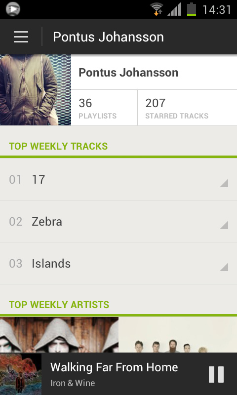 User Profile Spotify overhauls its Android app to add ICS support, new design, increased social and more