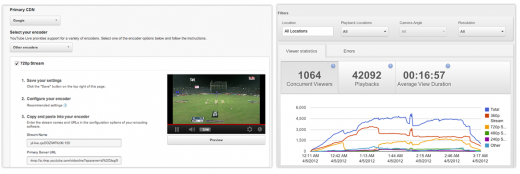 VM snapshot 520x174 New features hit YouTube Live, with real time analytics & free Wirecast software