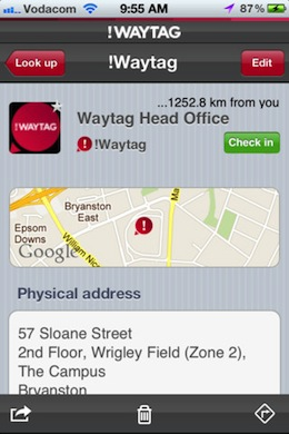 Waytag1 Waytag turns addresses and GPS coordinates into tags for easy sharing