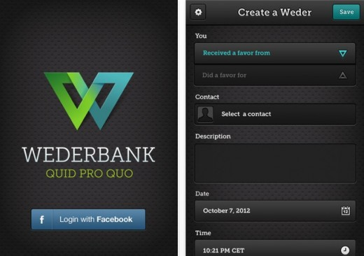 a3 520x366 Quid pro quo: Wederbank is an app for recording and tracking favors