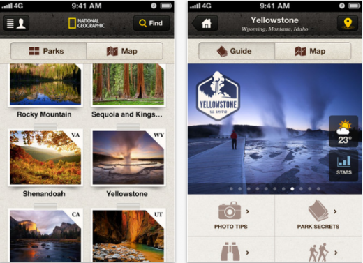 a5 520x377 National Geographic launches National Parks iOS app, guides to 20 of the USs most visited parks
