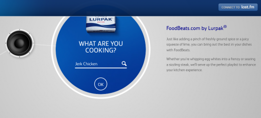 a7 520x236 FoodBeats: Lurpak taps Last.fm to bring you playlists based on what youre cooking