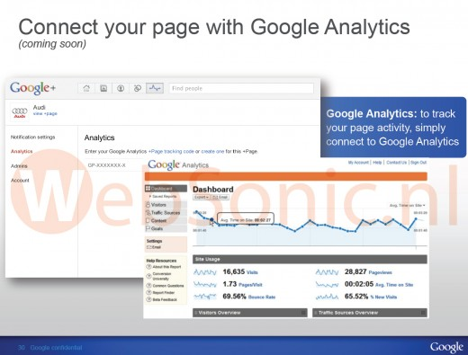 analytics google plus1 520x395 Google Analytics may soon be used to measure Google+ Pages