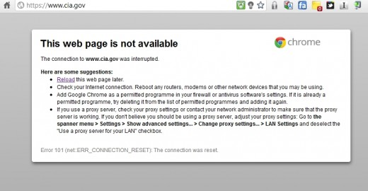 anonymous cia 520x270 Anonymous says it took the CIA website offline again with new DDoS attack