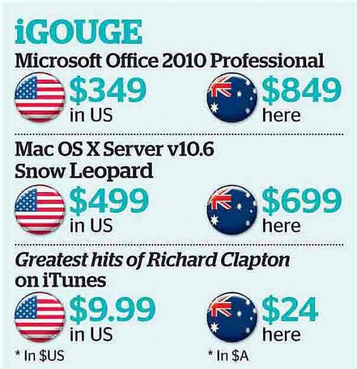 apple 520x538 Australia to Apple, Adobe and Microsoft: Why do we pay more for digital downloads than other countries?