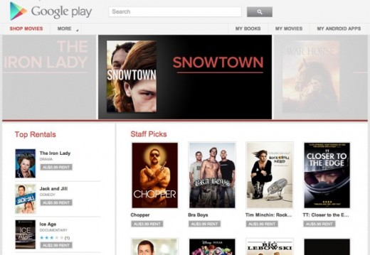 aus gPlayMovies 1 520x359 Google brings its Google Play/YouTube movie rental service to Australia
