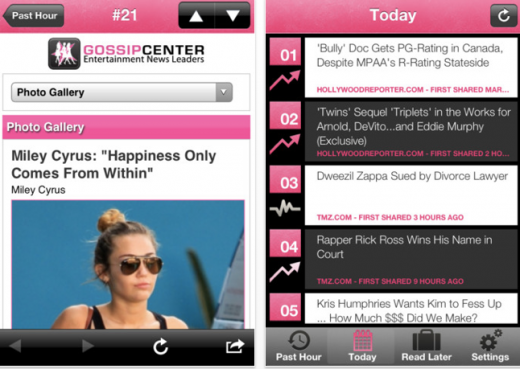 b7 520x369 Currently Famous: This mobile app mines Twitter for the top trending celebrity stories