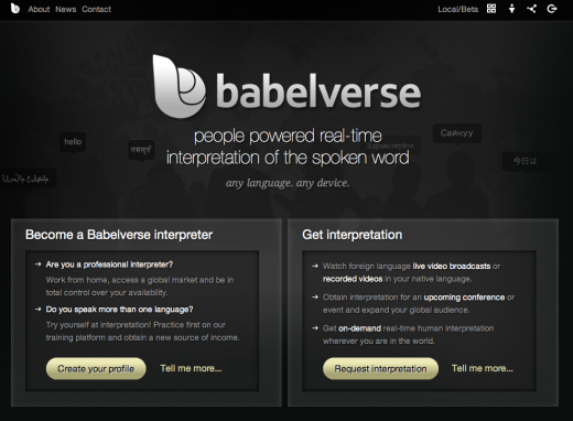 babelverse homepage 520x382 Real time voice interpretation startup Babelverse unveils public beta