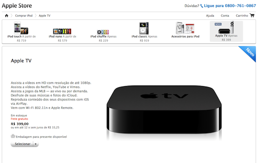 br The new Apple TV hits Brazil, still costs more than twice as much as in the US