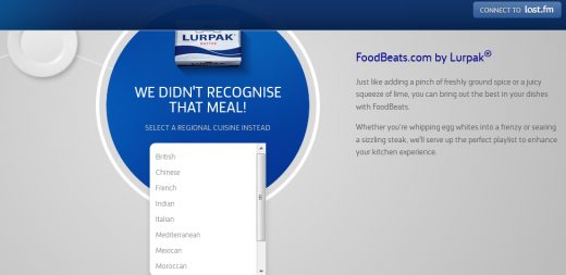 c2 520x253 FoodBeats: Lurpak taps Last.fm to bring you playlists based on what youre cooking
