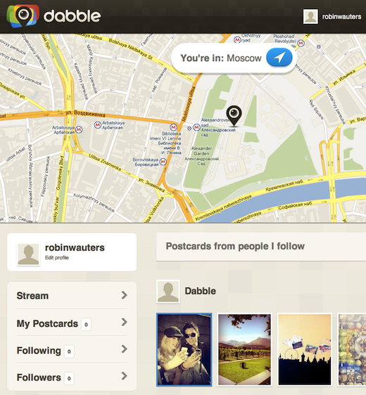 dabble Former Twitter VP launches location based photo journal app called Dabble