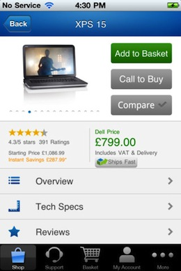 dell2 Dell UK launches an iOS and Android marketplace for purchasing products on the go