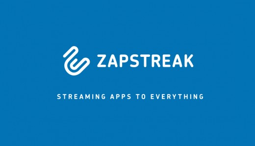 logo and claim  white on blue background 520x298 Zapstreak: The Airplay for Android mobile SDK launches in private beta