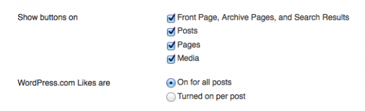 options 520x159 Facebook who? Wordpress sees success with its own Like button
