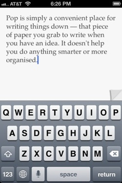 pop1 Can an app be TOO simple? We ask the developer of super minimalist writing app Pop