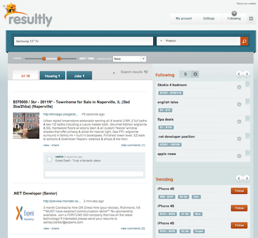 resultly Resultly preps the launch of its realtime social search engine (invites)