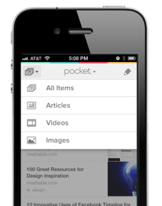 rhuj Read It Later rebrands as Pocket, goes free. Lets its 4.5m users save articles, videos, images & more.