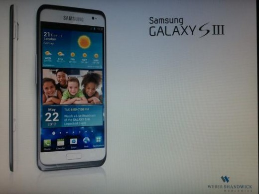 sgs3 520x390 More evidence suggests the Samsung Galaxy S III will launch May 22