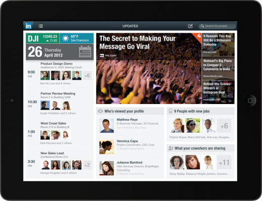 spotlight ipad frame 520x400 LinkedIn gets new Android and iOS apps, with a spectacular iPad version