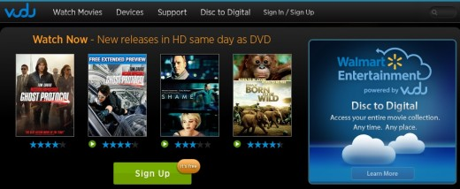 vudu 520x214 Walmart is reportedly planning to launch its streaming service Vudu abroad, starting with Mexico