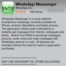 wahtsapp 220x220 WhatsApp founder to operators: Were no SMS killer, we get people hooked on data