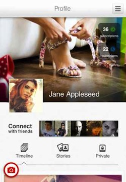 weheartpics profile Create a photographic timeline of your life with iPhone app WeHeartPics