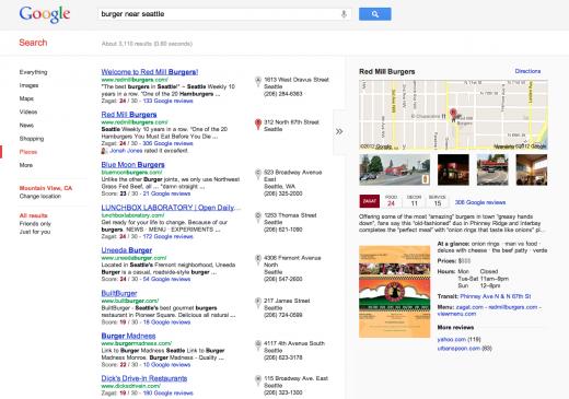 11 newdesignedlocalsearchexperience 520x365 Google overhauls its local search experience with Google+ Local, featuring Zagat scores