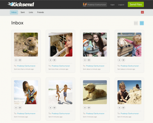 2 inbox 520x417 File sharing startup Kicksend launches new Web app and goes free & unlimited across all platforms