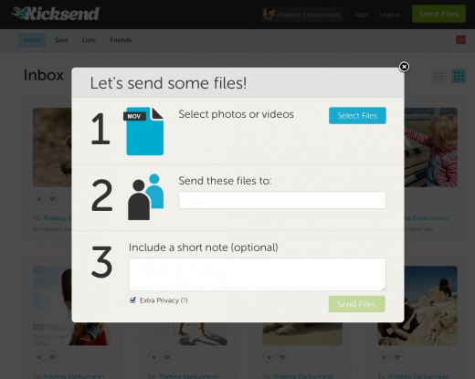3 send files 520x415 File sharing startup Kicksend launches new Web app and goes free & unlimited across all platforms