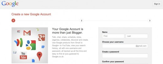 Convo 35 520x205 Googles Blogger updates its signup process, now lets you attach your Google+ profile