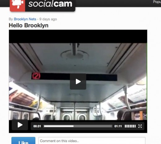 Hello Brooklyn by Brooklyn Nets on Socialcam May 11 520x467 The NBAs Brooklyn Nets become the first professional sports team to join Socialcam