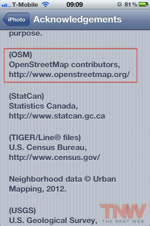 IMG 2442wtmk 520x780 Apple finally credits OpenStreetMap for use of its mapping data in iPhoto app