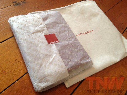 IMG 2576wtmk 520x390 Review: Lacambras stylish, elegant leather case positions your iPad any way you want it