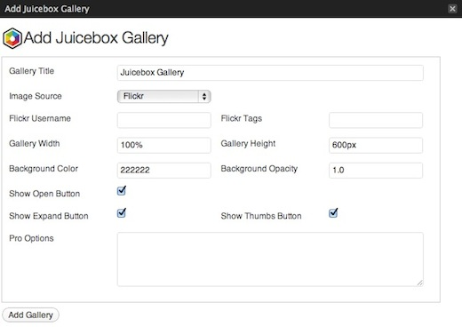Juicebox Add Gallery Juicebox is the easiest way to create responsive photo galleries for your site
