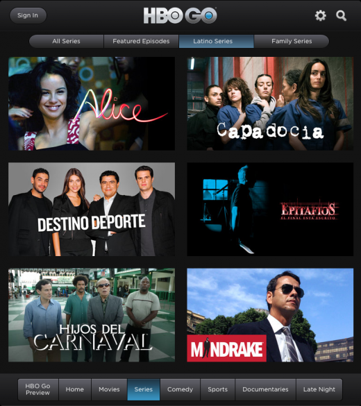 LatinoSeriesOnGO 520x585 HBO GO now includes Latino content to expand its offering to Spanish speaking audiences