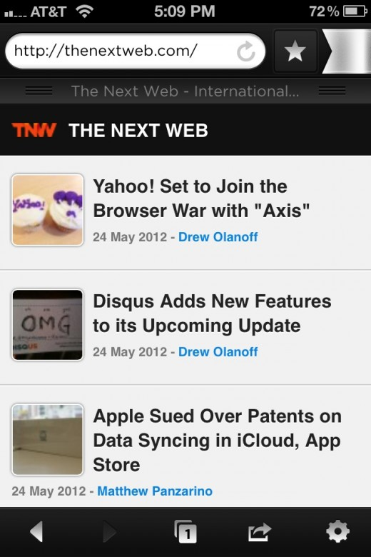 Photo 2 520x780 Yahoo! launches Axis, a combined search and browsing product