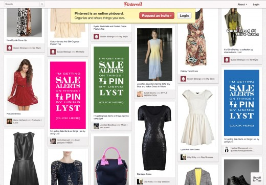 Pinterest Connect Screen Shot 520x362 Want to know when your items on Pinterest go on sale? Check out Lysts alerts