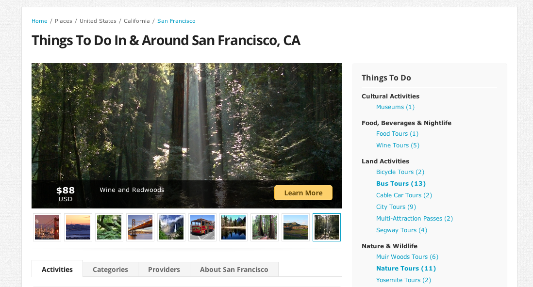 San Fran1 Travergence: A matchmaker for tourists and businesses