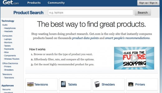 The best way to find great products Get.com  520x298 Get.coms redesign helps you find the best products thanks to over 100k user recommendations