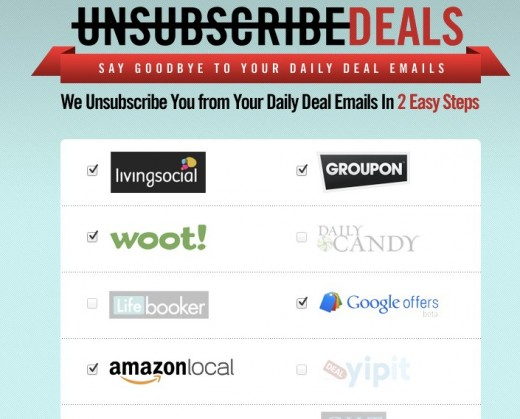 Unsubscribe Deals Unsubscribe from your Daily Deals emails 520x419 If youre still putting up with daily deals emails in your inbox, this service will get rid of them